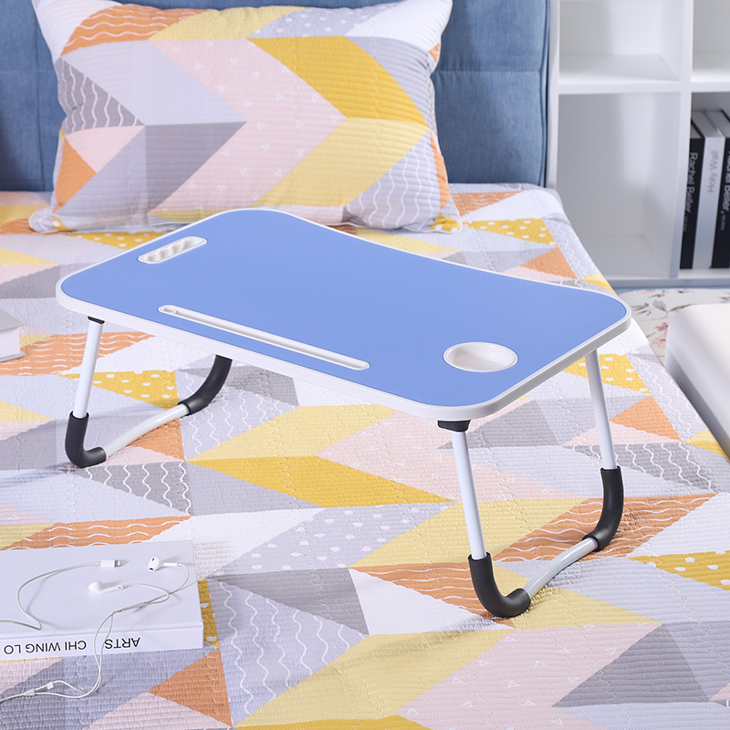 Hand made lap desk with cooling fan adjustable folding laptop study table for bed and sofa